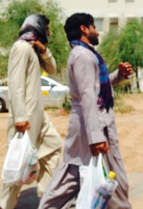Men shopping at Mafraq.