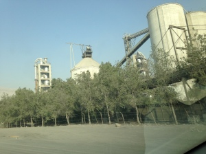 The RAK Cement complex just before the border with Oman.
